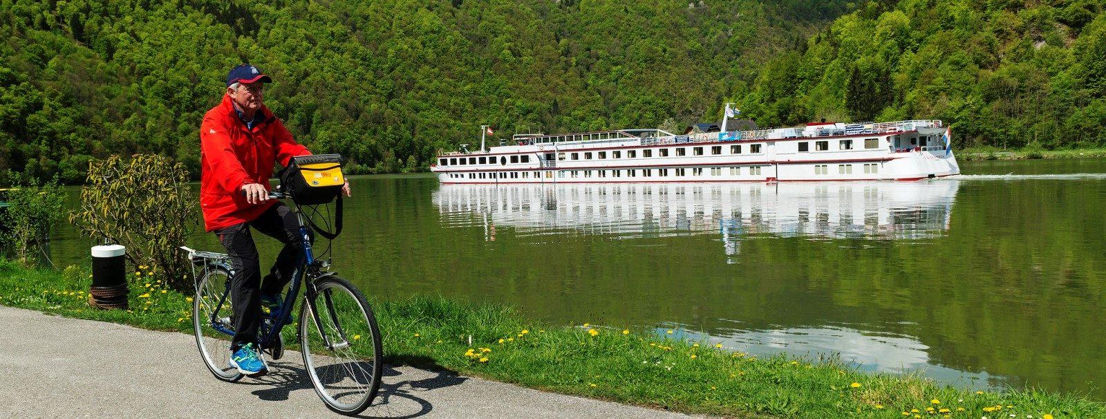 Smukt cykelkrydstogt på Donau